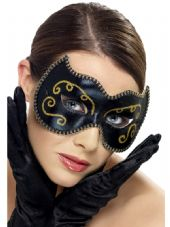 Persian Gold & Black Eye Mask